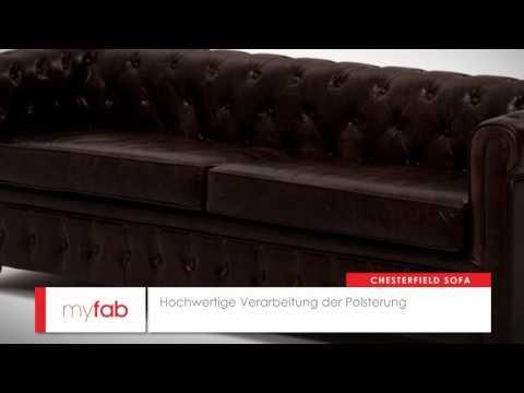 Das Chesterfield Vintage Ledersofa von myfab