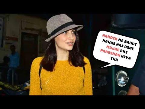 Hardik Pandya Girlfriend Elli Avram Reaction on Hardik Controversial Statement on Koffee with Karan