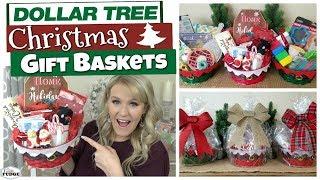 DOLLAR TREE CHRISTMAS GIFT BASKET IDEAS 🎄 Budget Christmas Gift Ideas