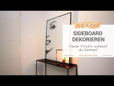 Dekorieren, aber richtig! Tipp 1: Sideboard