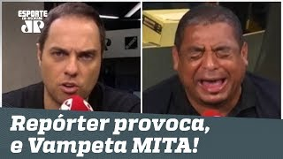 Repórter provoca, e Vampeta MITA na resposta!