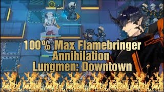 Flamebringer  - (Arknights) - [Arknights] 100% Maxed out Flamebringer :: Annihilation 3 Lungmen Downtown