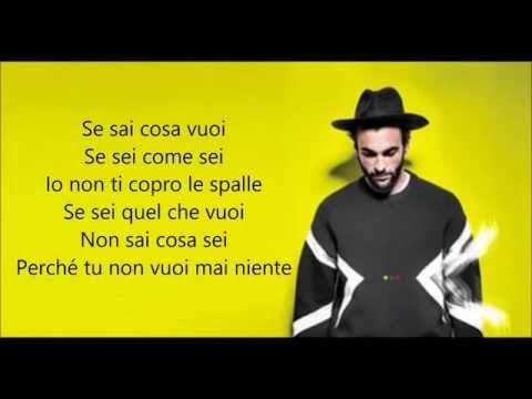 Marco Mengoni -  Se sei come sei (Testo)