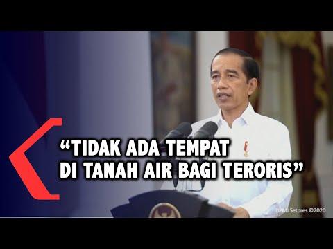 full presiden jokowi mengutuk keras tindakan terorisme di sigi