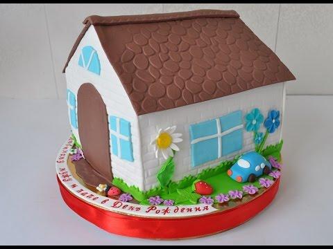 Как собрать торт домик