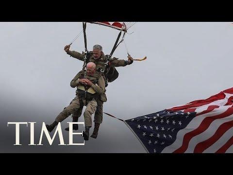 97-Year-Old World War II Veteran Parachutes Into Normandy