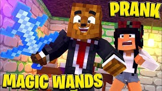 *NEW* INVISIBLE WAND PRANK - MINECRAFT MODDED WALLS | JeromeASF