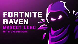 Fortnite Raven ESports Logo | How To Create Mascot Logos With DaseDesigns