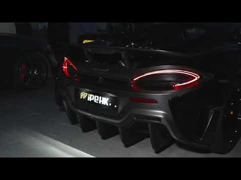 McLaren 600LT w/ Full iPE Titanium Exhaust X Extreme Flame Machine