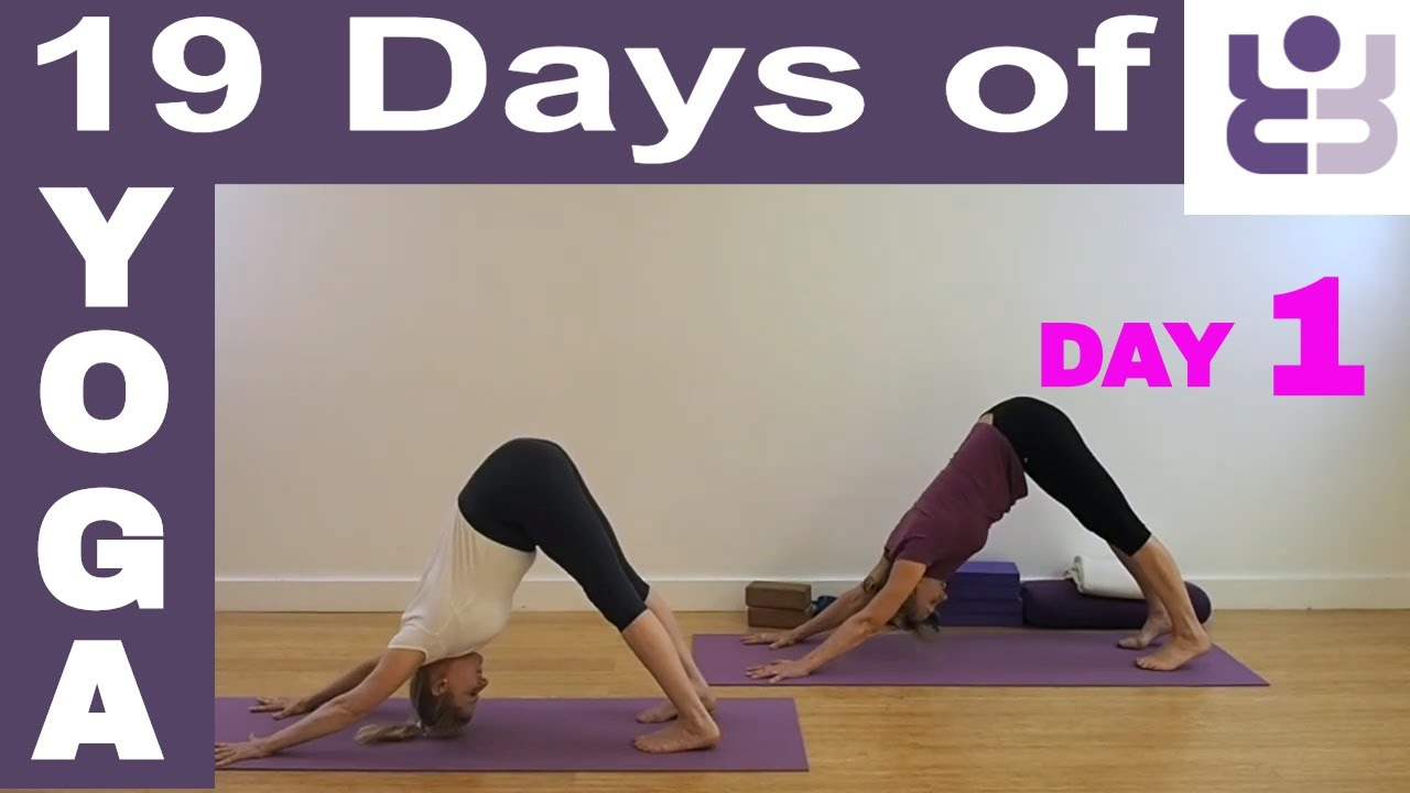 19 Days of Yoga - Day 1. Iyengar Yoga Sequence