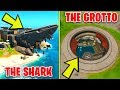 Search Chests at The Grotto or The Shark - Location Guide (Fortnite Brutus' Briefing)