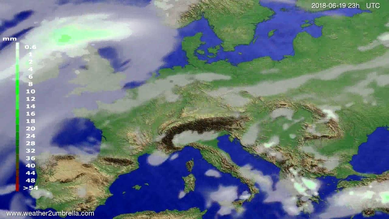 Precipitation forecast Europe 2018-06-16