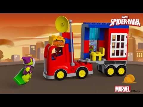 Vidéo LEGO Duplo 10608 : L'aventure de Spider-Man en camion araignée