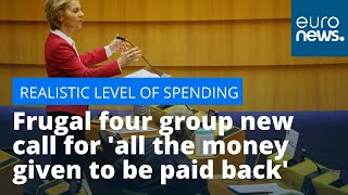 """Realistic level spending"": Frugal four group new call for 'all the money given to be paid back'"