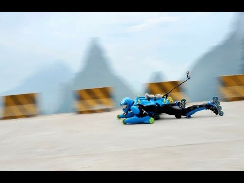 Rollerman ; the legendary hero of tian men shan