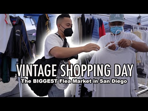 VINTAGE SHOPPING at the BIGGEST Flea Market in San Diego!