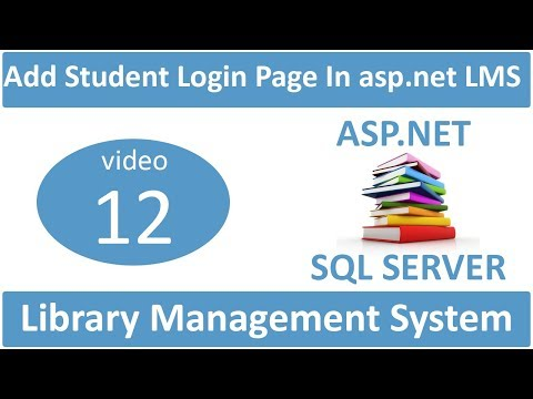 how to make login page in student side in asp.net LMS
