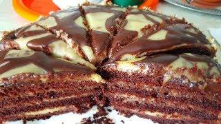 Торт постный Брауни, цыганка готовит. Постные десерты. Gipsy cuisine.