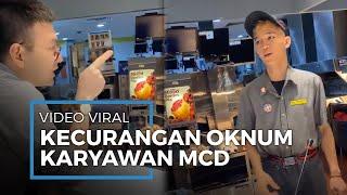 Viral Video di Twitter Detik-detik Oknum Karyawan McDonald Lakukan Kecurangan