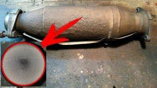 Как выглядит целый катализатор отработавших газов или когда надо менять катализатор