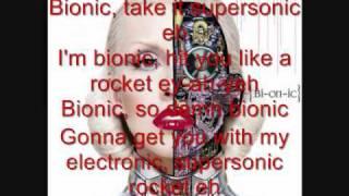 Bionic by Christina Aguilera (lyrics)