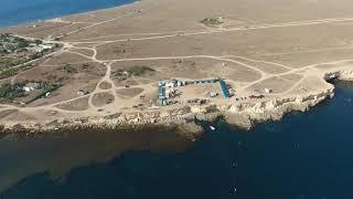 Крым - Мыс Тарханкут, самая западная точка полуострова. Август 2018 г.