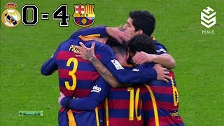 Real Madrid vs Barcelona 0-4 ● All Goals and Full Highlights ● English Commentary ● 21-11-2015 HD