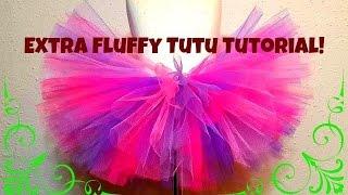 HOW TO MAKE A NO SEW TUTU - Extra Fluffy!!