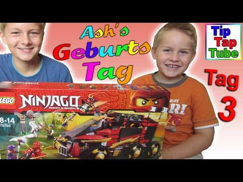 Lego Ninjago 70750 Mobile Ninja Basis Ash's Geburtstag Spielzeug Geschenke auspacken Kinderkanal