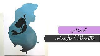 Silhouette Disney Painting- Beginners Acrylic Painting- Disney Silhouette
