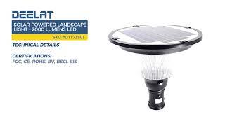 Solar Powered Landscape Light - 2000 Lumens LED