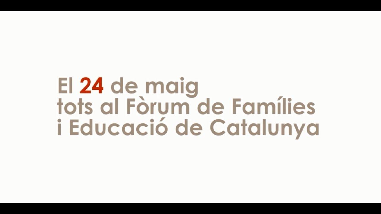 Invitació FÒRUM FAMÍLIES i EDUCACIÓ DE CATALUNYA