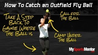 Softball: How To Catch A Fly Ball And A Ground Ball