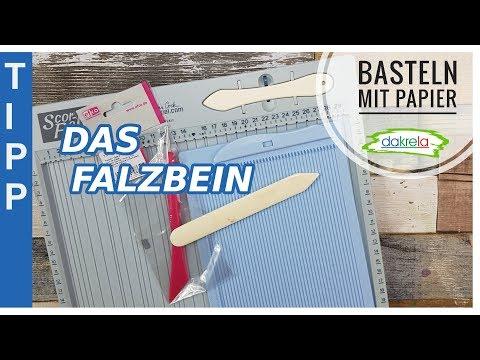 1x1 Basteln mit Papier - das Falzbein // Info & Anwendungstipps / Materialkunde