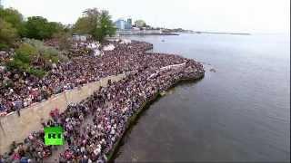 Воздушно морской парад в Севастополе 9 мая 2014