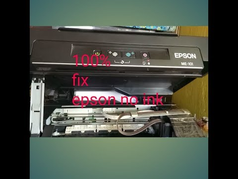 Ways to reset EPSON ME-100 ink level no code or software, no ink fix easy tip
