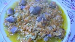 Тушеные куриные сердца (очень вкусное блюдо)