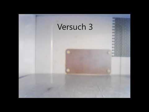 Thermopapier in der Mikrowelle - Experimente mit der Mikrowelle
