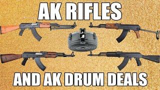 Korean AK-47 75 Round Drum Magazine, with Clear Back Window