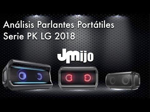 Análisis Parlantes Portátiles serie PK LG 2018
