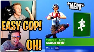 """Streamers React to the *NEW* """"Shaolin Sit-Up"""" Emote! - Fortnite Best and Funny Moments"""