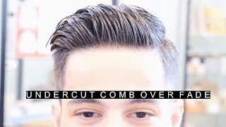 Professional Undercut Comb Over Fade Hairstyle   The Best Side Part Haircut   Easy Hair For Men