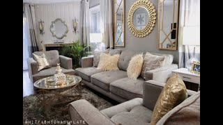 Redecorating For Under $2,800 | Glam Living Room Tour: Part 2