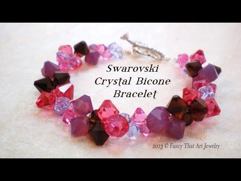 Swarovski Crystal Bicone Bracelet Video Tutorial