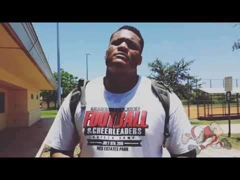NY Giants Ereck Flowers (interview) 2nd Annual Football and Cheerleader Skills Camp