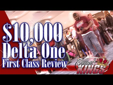 $10,000 Delta One First Class seats Review: Passport Kings Travel Video