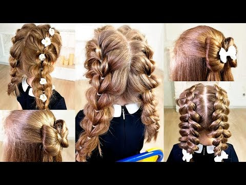 5 Cute Back to school hairstyles! School hairstyles for girls on natural hair!!