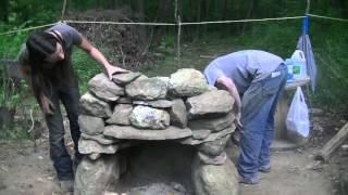 Building A Stone Fire Place - Super Warm Winter Preparations