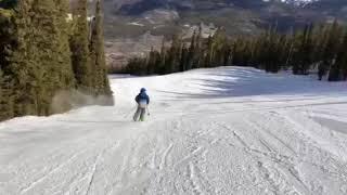 David skiing like a pro