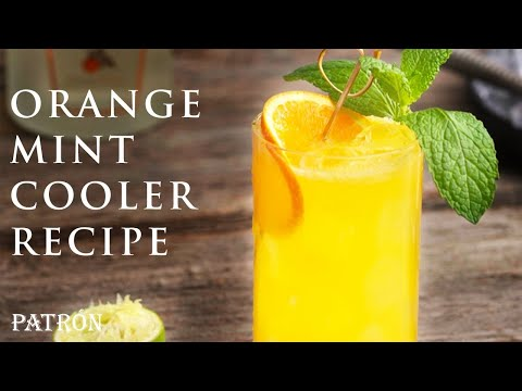 Refreshing Orange Mint Cocktail Recipe | Patrón Tequila